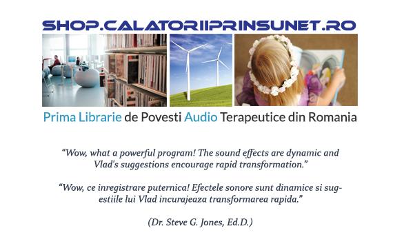 Prima Librarie de Povesti Audio Terapeutice din Romania