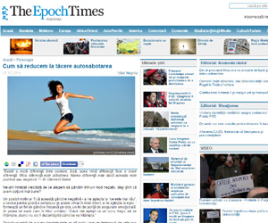 Aparitie media The Epoch Times Romania